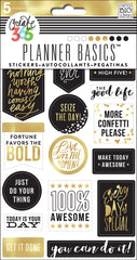 Planner Basics™ Stickers - Black, White and Gold