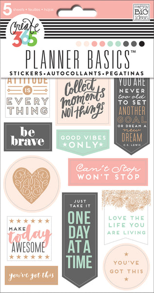 Planner Basics™ Stickers - Rose Gold