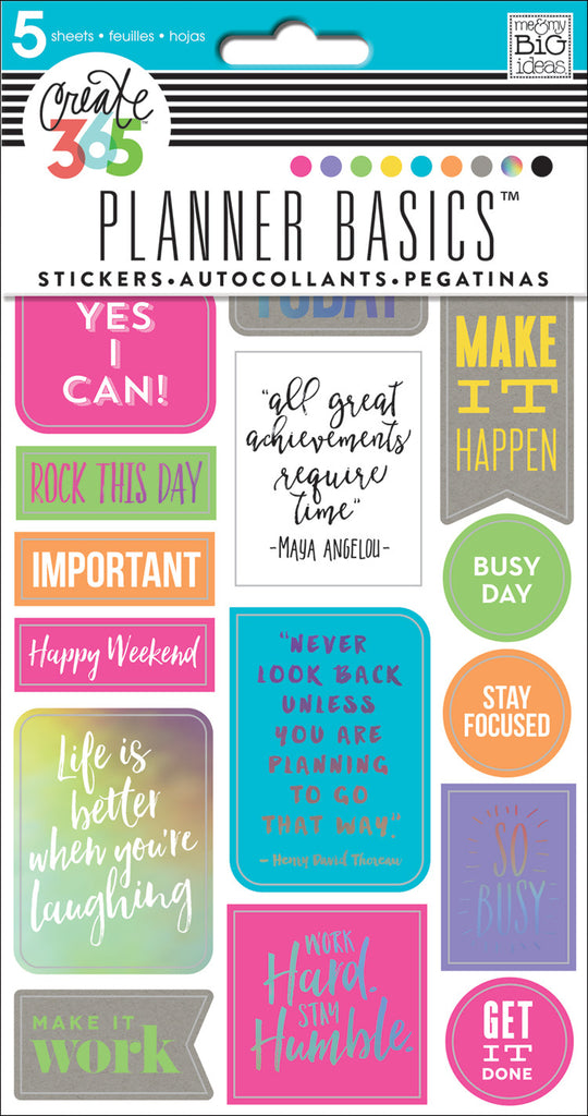 Planner Basics™ Stickers - Neon – me & my BIG ideas