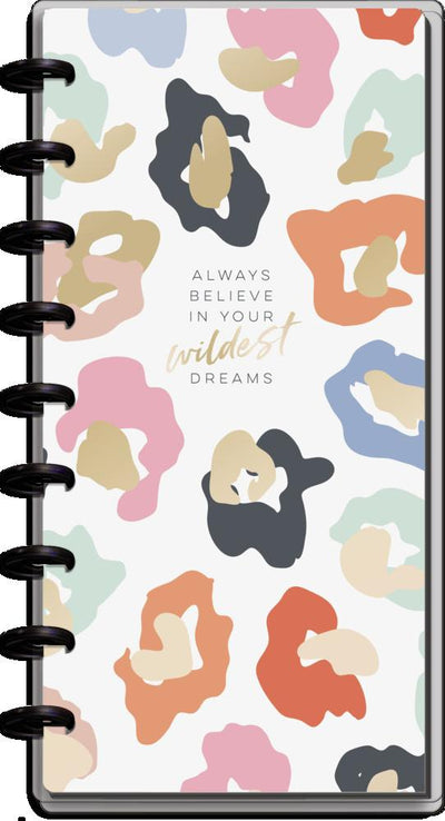 2021 Colorful Leopard Skinny Classic Happy Planner - 12 Months