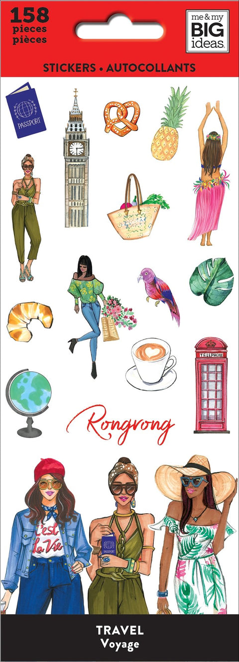 Petite Sticker Sheets - Rongrong - Travel