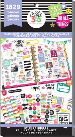 Value pack stickers planner basics