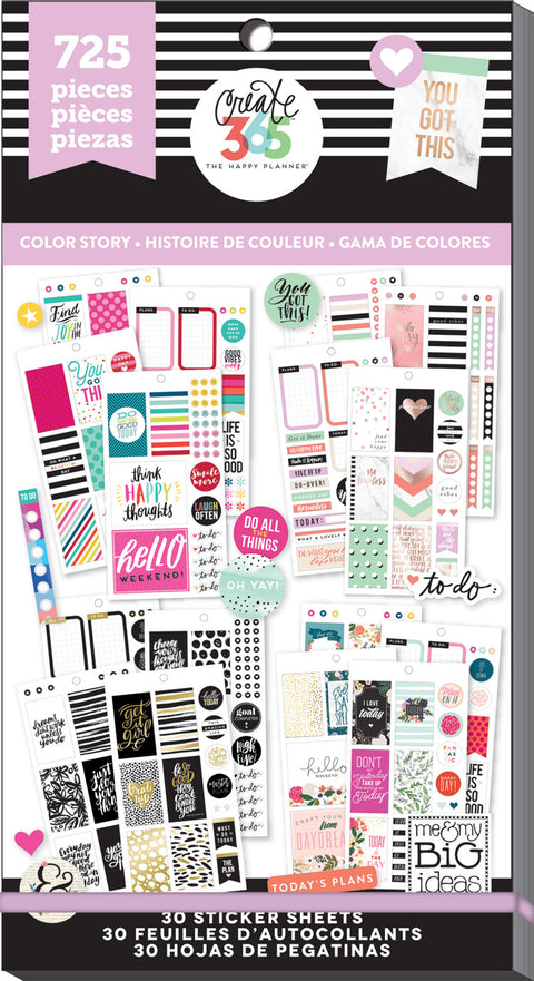 Value Pack Stickers - Color Story - CLASSIC