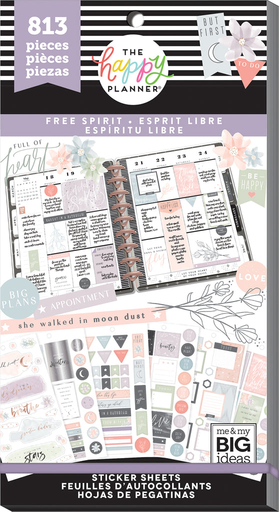 Value Pack Stickers Free Spirit The Happy Planner