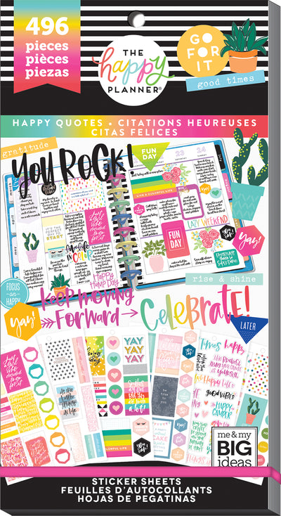 Value Pack Stickers - Happy Quotes