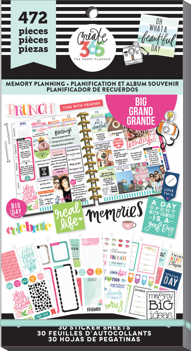 Value Pack Stickers - Memory Planning - BIG