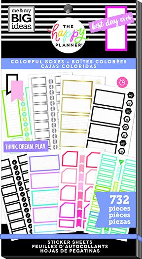 Value Pack Stickers - Monthly Colorful Boxes