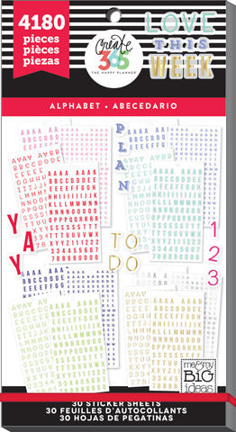 Value Pack Stickers - Alphabet