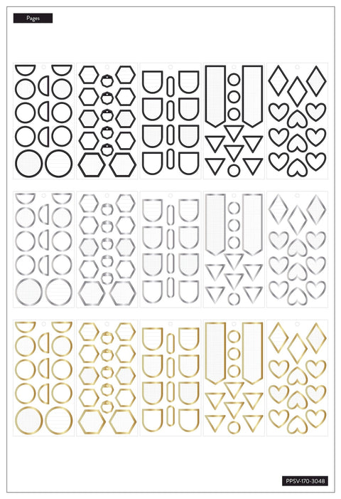 Value Pack Stickers - Colorful Shapes