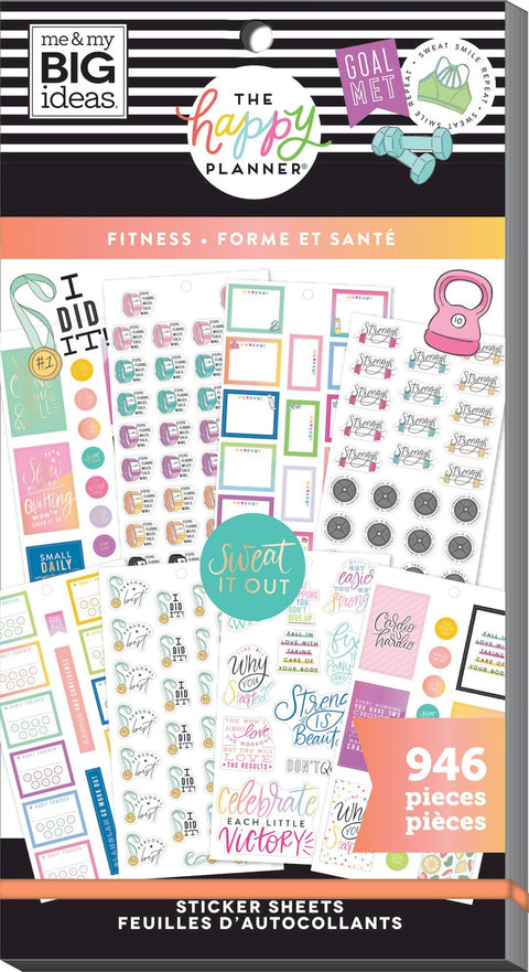 Value Pack Stickers - Fitness Workout
