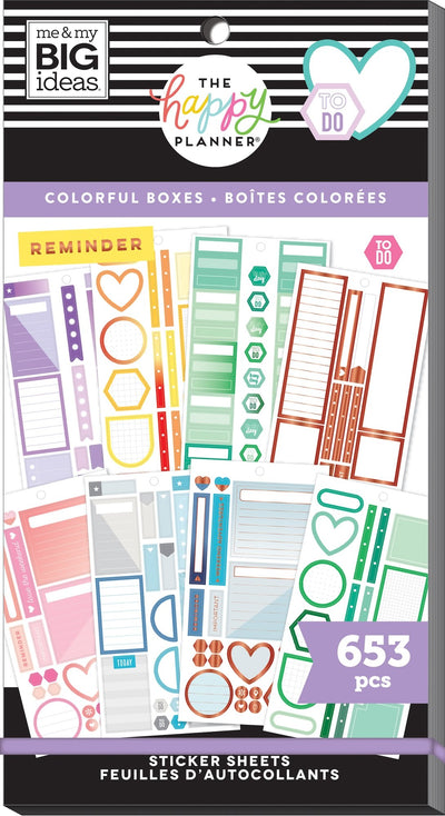 Value Pack Stickers - Colorful Boxes - Copper Foil