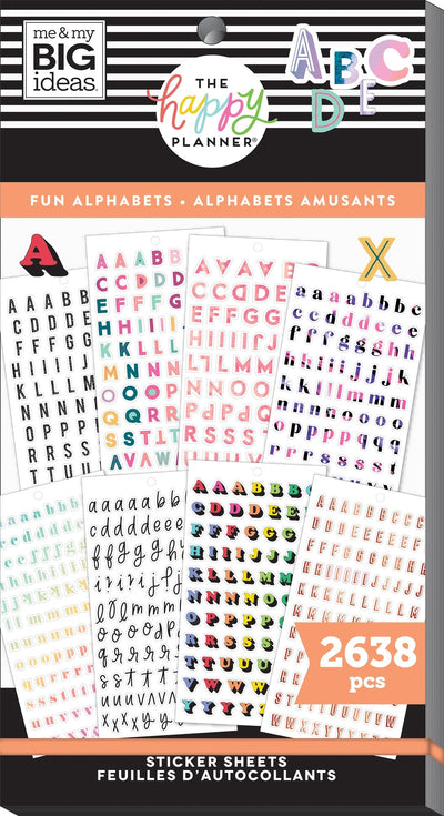 Value Pack Stickers - Fun Alphabet