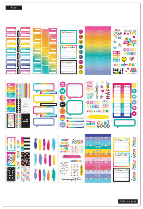 Value Pack Stickers - Color Me Happy