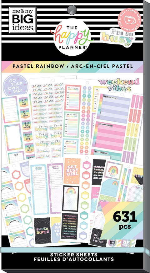 Value Pack Stickers - Pastel Rainbow