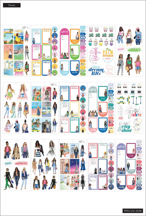 Value Pack Stickers - Rongrong - Travel