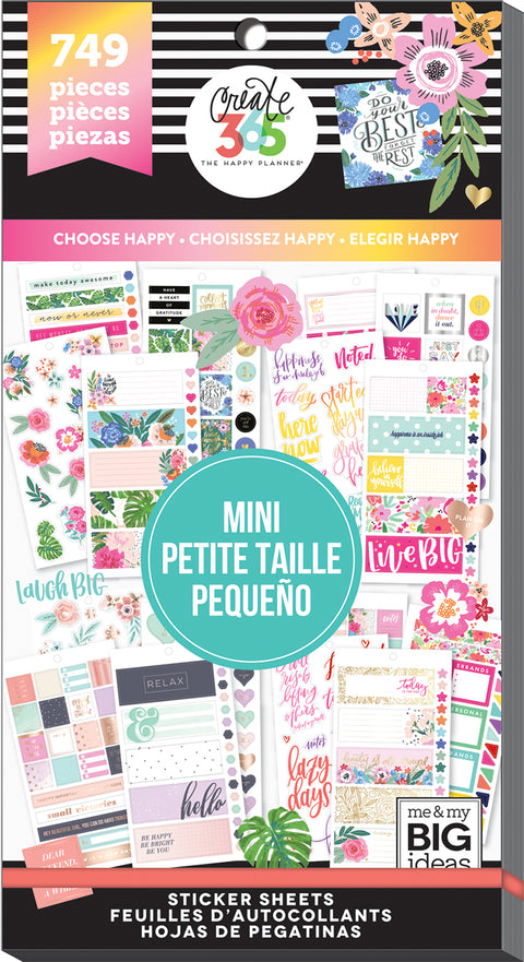 Value Pack Stickers - Choose Happy - Mini