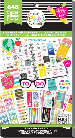 Value Pack Stickers - Teachers Rule - BIG Teacher