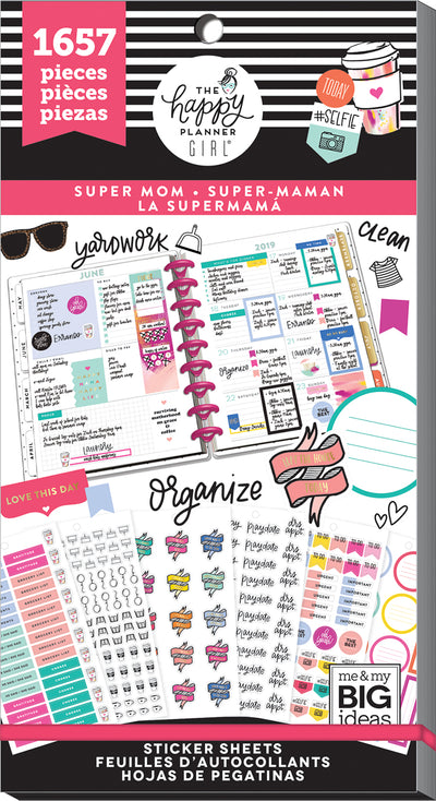 Value Pack Stickers - Super Mom