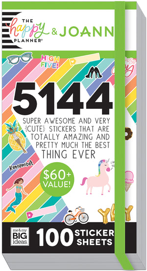 Mega Value Sticker Pack - 100 Sheets!