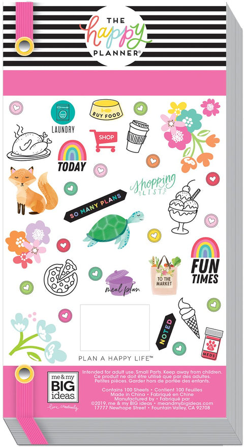 Mega Value Pack Stickers - Brights - 100 Sheets!