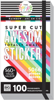 Mega Value Pack Stickers - Rainbow - 100 Sheets!