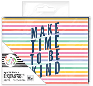 Quote Block - Make Time