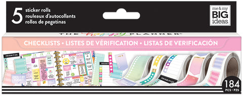 Checklists Sticker Rolls