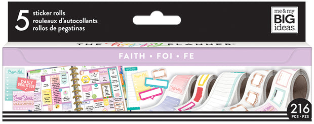 Faith and Gratitude Sticker Rolls
