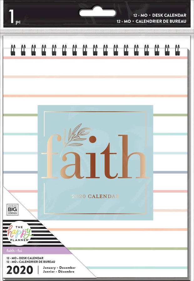 Spiral Desk Calendar - Faith