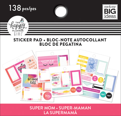Tiny Sticker Pad - Super Mom Mini
