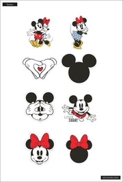 Mickey Mouse and Minnie Mouse Love Today Die Cut Vinyl Decal Stickers - 8 Pack