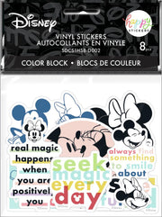 Disney © Mickey Mouse & Minnie Mouse Colorblock Die Cut Vinyl Decal Stickers - 8 Pack