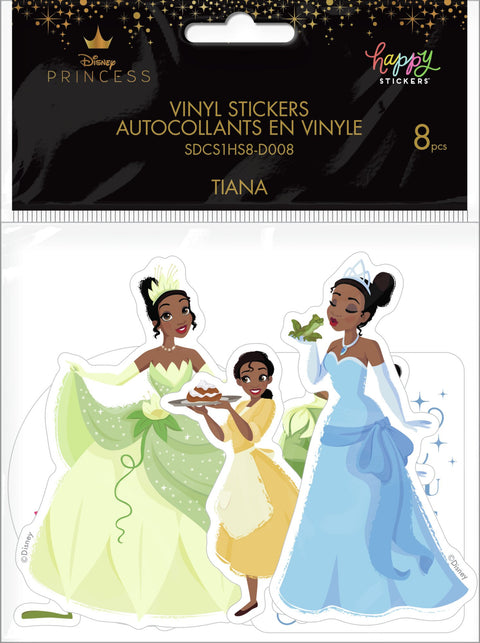 Princess And The Frog Die Cut Vinyl Decal Stickers - 8 Pack