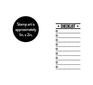 Checklist Self-Inking Stamp