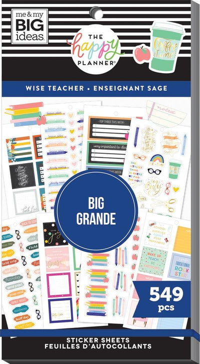 Value Pack Stickers - Wise Teacher - BIG