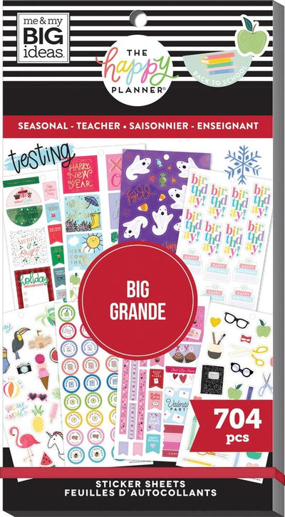 Value Pack Stickers - Seasonal Teacher - BIG