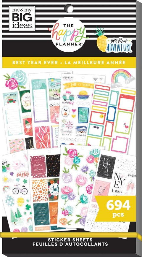 Value Pack Stickers - Best Year Ever