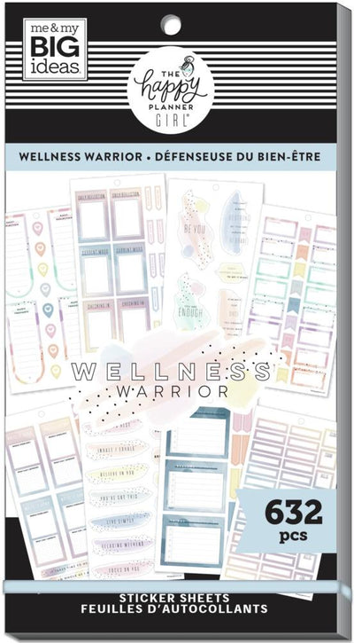 Value Pack Stickers - Wellness Warrior