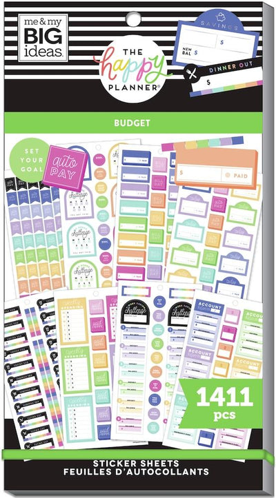 Value Pack Stickers - Budget Goals