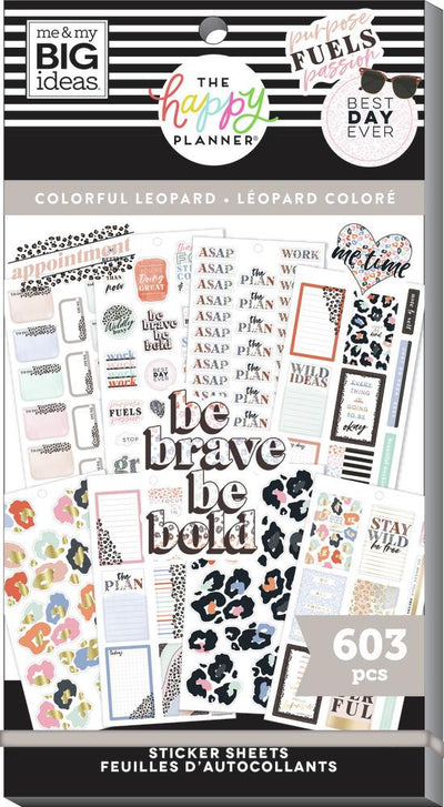 Value Pack Stickers - Colorful Leopard