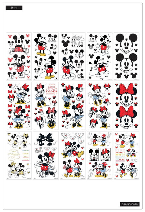 Disney © Value Pack Stickers - Large Mickey Mouse and Minnie Mouse