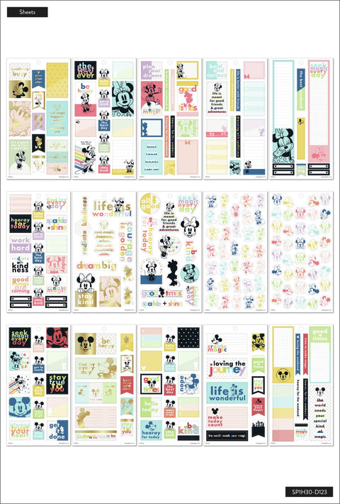 Disney © Mickey Mouse & Minnie Mouse Value Pack Stickers - Colorblock