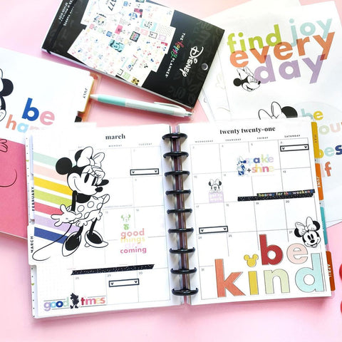Disney © Minnie Mouse Colorblock Large Icons Stickers