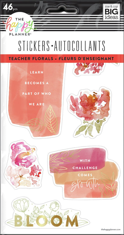 Watercolor Florals - 5 Sticker Sheets
