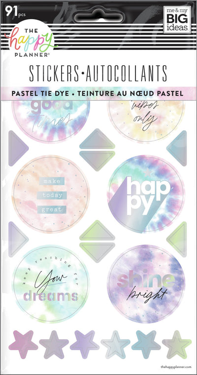 Pastel Tie Dye - 5 Sticker Sheets