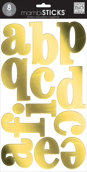 Gold Foil - Lowercase