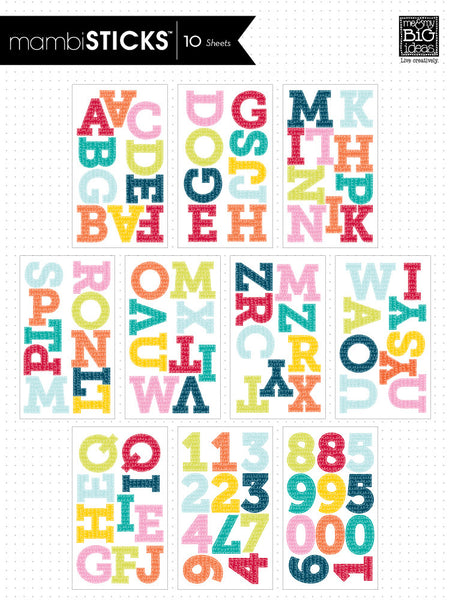Colorful Squiggles - Uppercase