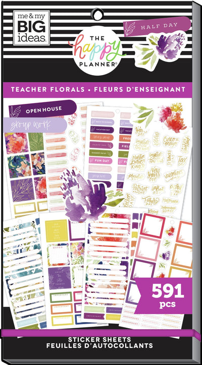 Value Pack Stickers - Teacher Florals