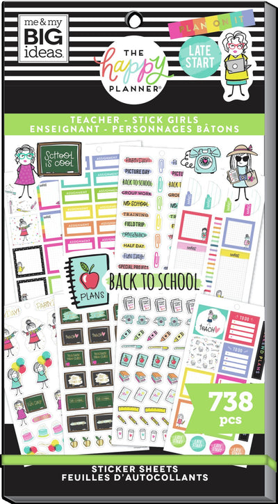 Teacher Value Pack Stickers - Stick Girl