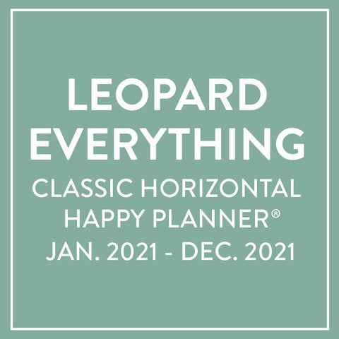 2021 Leopard Everything Classic Horizontal Happy Planner® - 12 Months